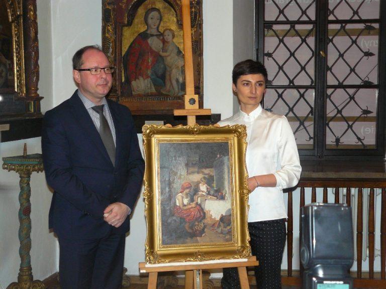 Zrabowany podczas wojny obraz trafił do Nowego Sącza