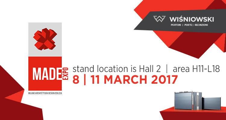 Marka WIŚNIOWSKI zagości na włoskim MADE Expo 2017