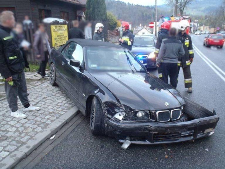 Piwniczna Zdrój: trzy auta rozbite, pijany kierowca ma kłopoty
