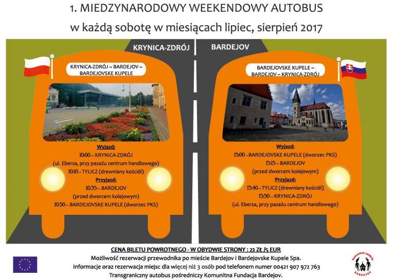 Krynica – Zdrój: będzie wakacyjny autobus do Bardejova