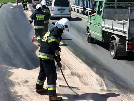 Nowy Sącz/ Krynica – Zdrój: niebezpieczne plamy na jezdni