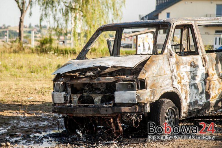 Siedliska: doszczętnie spłonął bus