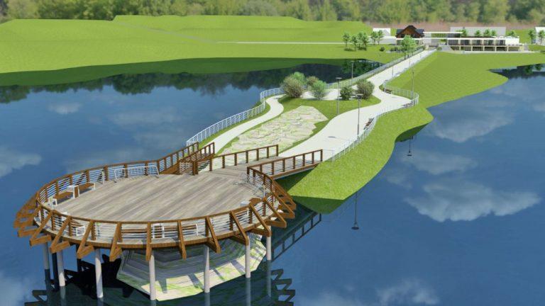 Gródek nad Dunajcem: zbudują gmach z zielonym dachem i platformę z widokiem na jezioro