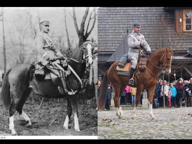 Marszałek Piłsudski na swojej Kasztance znów odwiedził Nowy Sącz