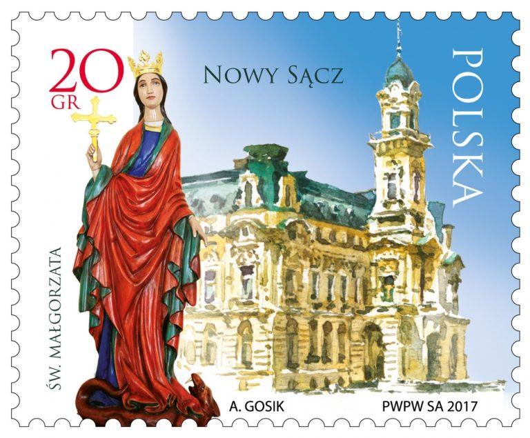 Nowy Sącz na znaczku pocztowym! Zobacz jak wygląda znaczek na 725-lecie lokacji miasta