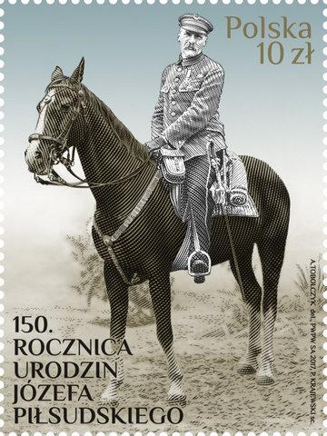 Możesz kupić znaczek jubileuszowy z Józefem Piłsudskim