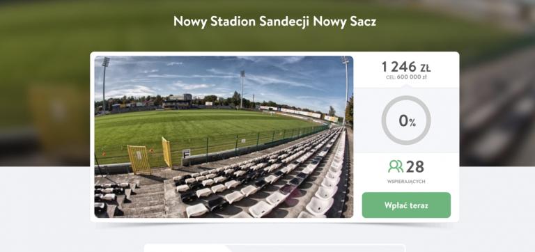 Kibice uzbierali 1246 zł na stadion Sandecji. Zmienili cel, ale nie poddają się