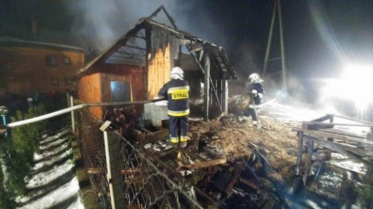 Łomnica Zdrój: spłonęła stolarnia. Niewiele brakło, a dom również stanąłby w ogniu