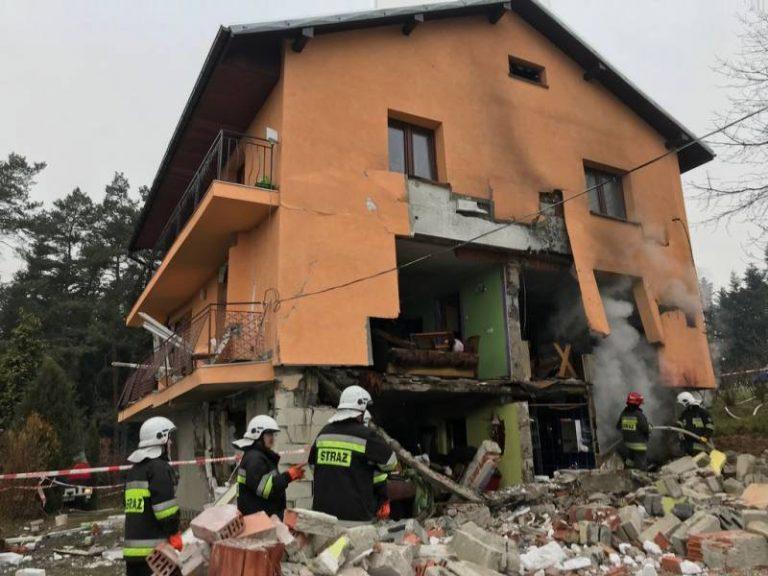 Olszanka: wybuch gazu rozszarpał dom. Dwie osoby w szpitalu
