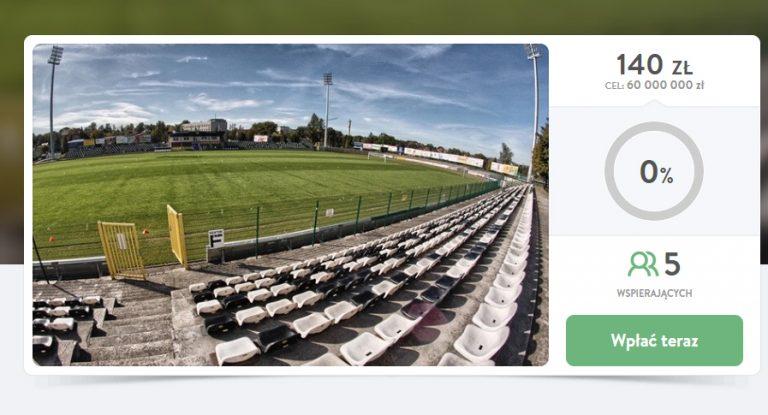 Kibic ogłosił społeczną zrzutkę na budowę stadionu Sandecji
