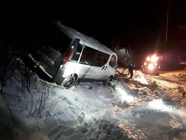 Sucha Struga: bus wypadł z drogi.
