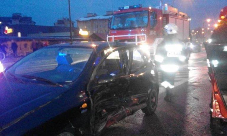 Nowy Sącz, ul. 1 Brygady: zderzenie dwóch samochodów osobowych