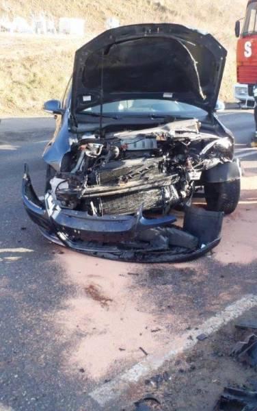 Zabrzeż: zderzenie dwóch samochodów