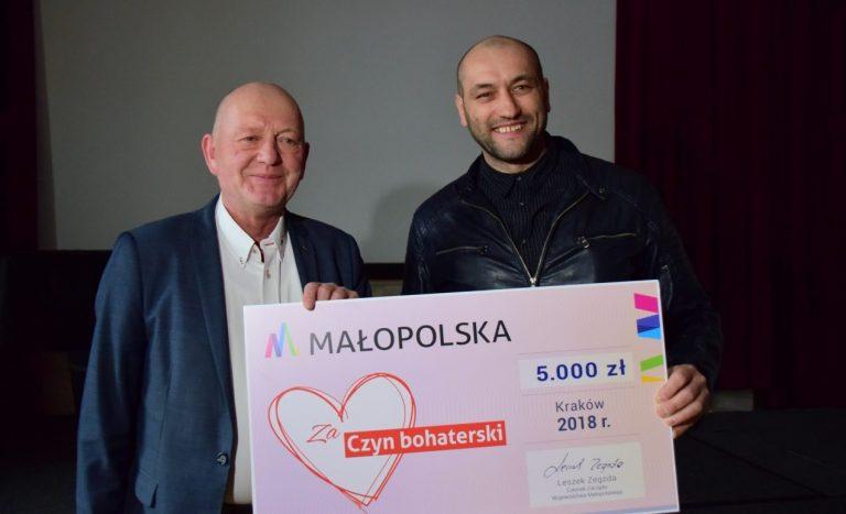 5 tysięcy od Marszałka Województwa dla Piotra Fałowskiego