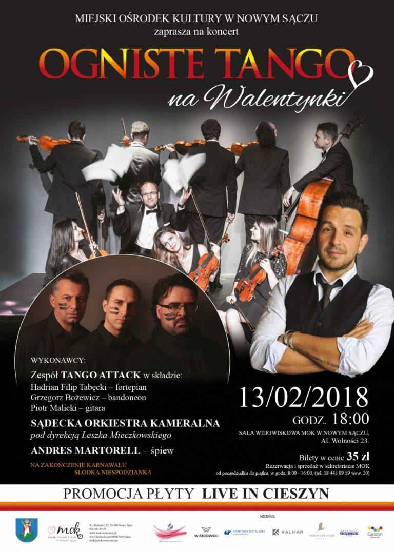 3 lutego 2018 r., godz. 18., MOK Nowy Sącz: Ogniste Tango