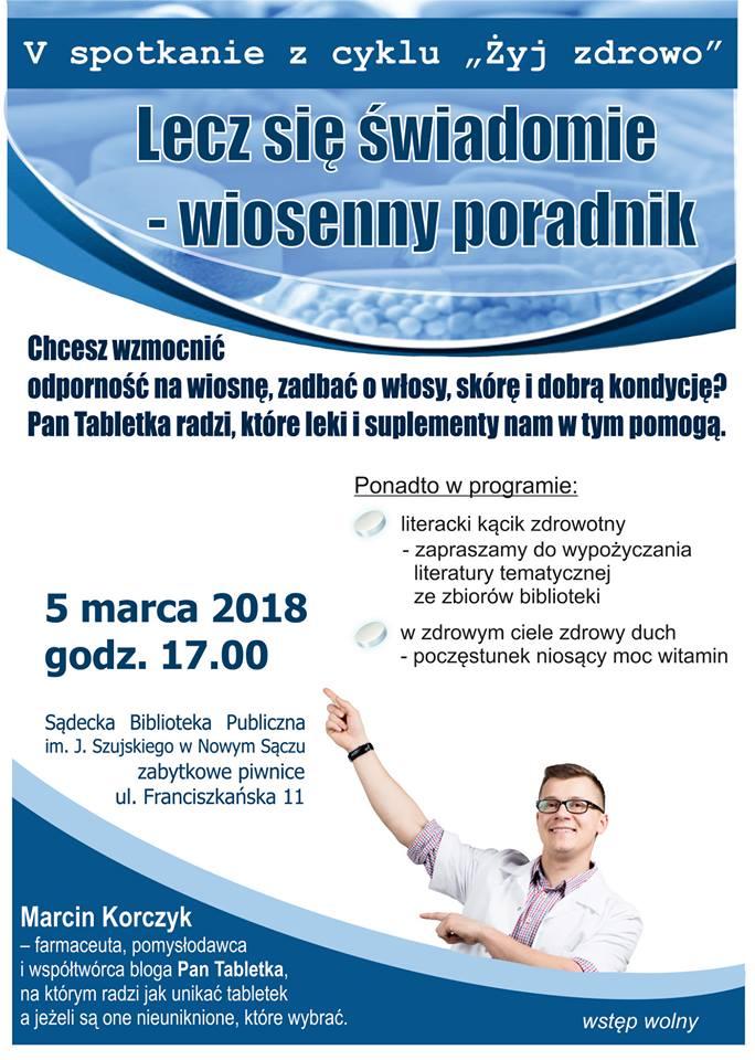 """5 marca, Nowy Sącz: """"Pan Tabletka"""" w Sądeckiej Bibliotece"""