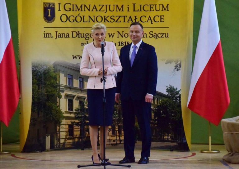 Prezydent Andrzej Duda w I LO: ta szkoła zdążyła wychować późniejszych rycerzy niepodległości
