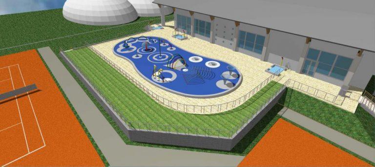 Przy ulicy Nadbrzeżnej powstanie plac zabaw wodnych z basenem