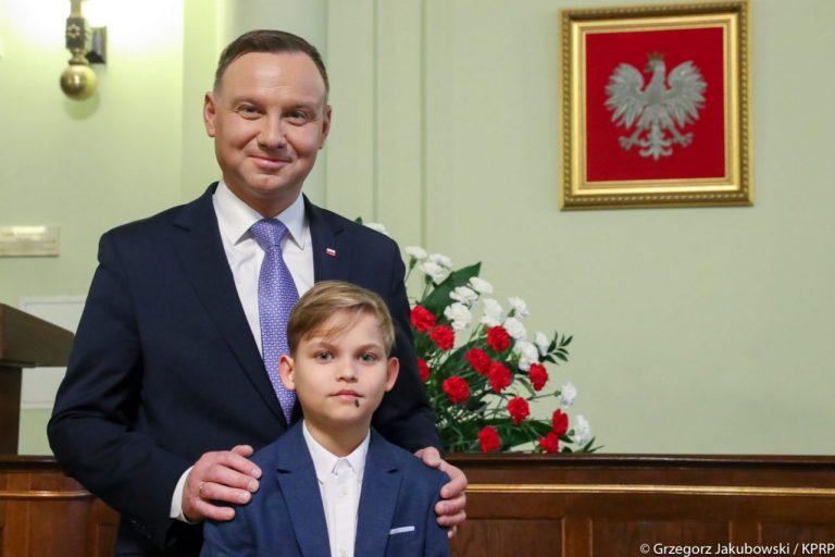 Prezydent Andrzej Duda podziękował 12- letniemu Michałowi za dobre serce