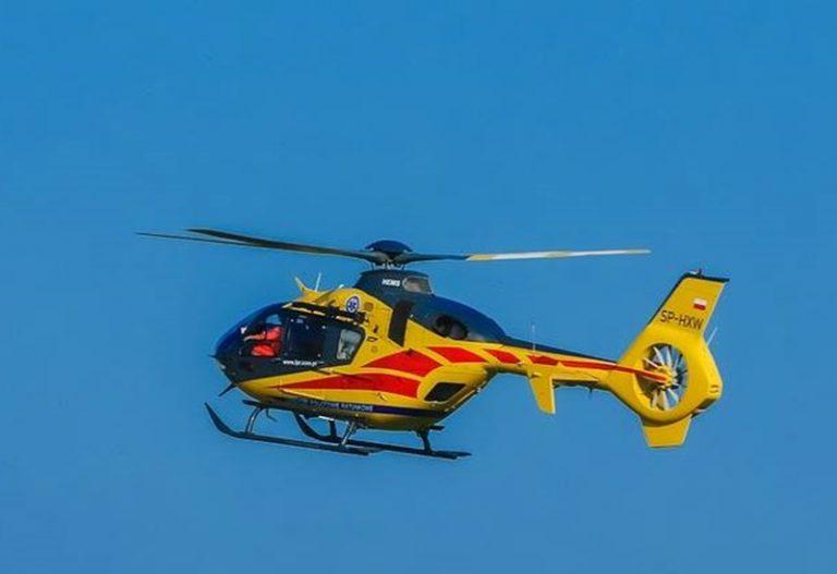 Nowy Sącz. Śmigłowiec LPR lądował obok sądeckiego szpitala
