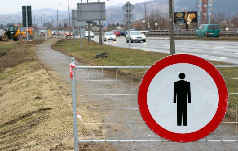 MOST HELEŃSKI zamknięty dla pieszych