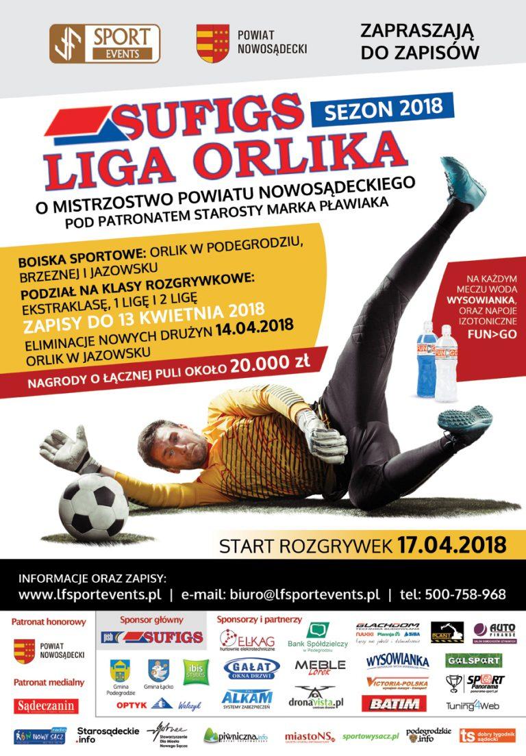 Lubisz grać w piłkę? Zapisz się do Sufigs Ligi Orlika o mistrzostwo powiatu!