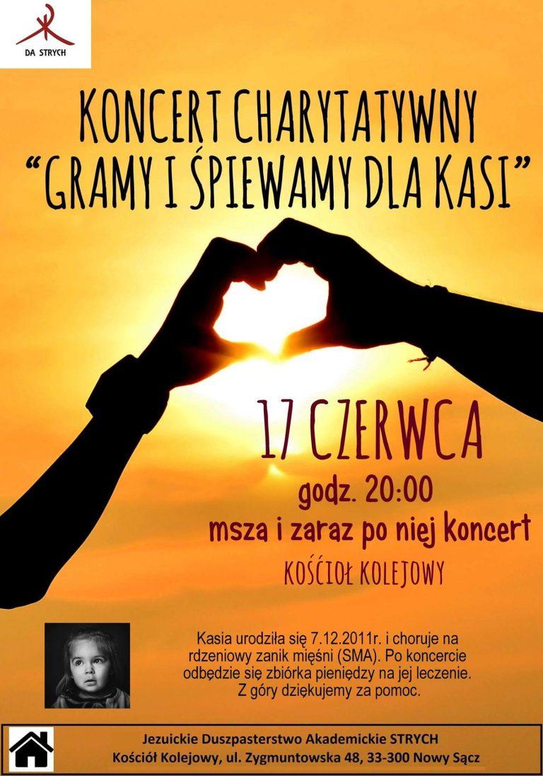 17 czerwca, Nowy Sącz: koncert charytatywny dla Kasi