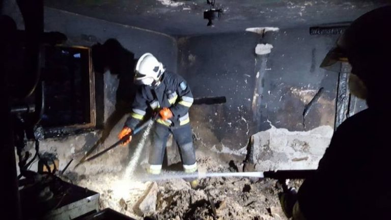 Wybuchł pożar w kotłowni. Kobieta w porę wyszła z domu