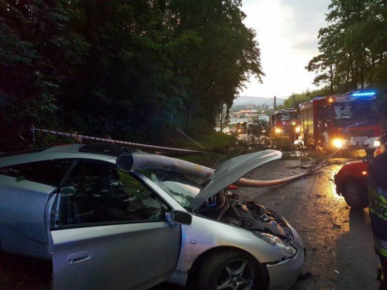 Nowy Sącz, ul. Tarnowska: Toyota ścięła słup