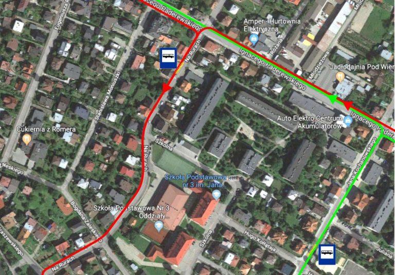 UWAGA! Miejskie autobusy pojadą ulicami Kochanowskiego i Na Rurach