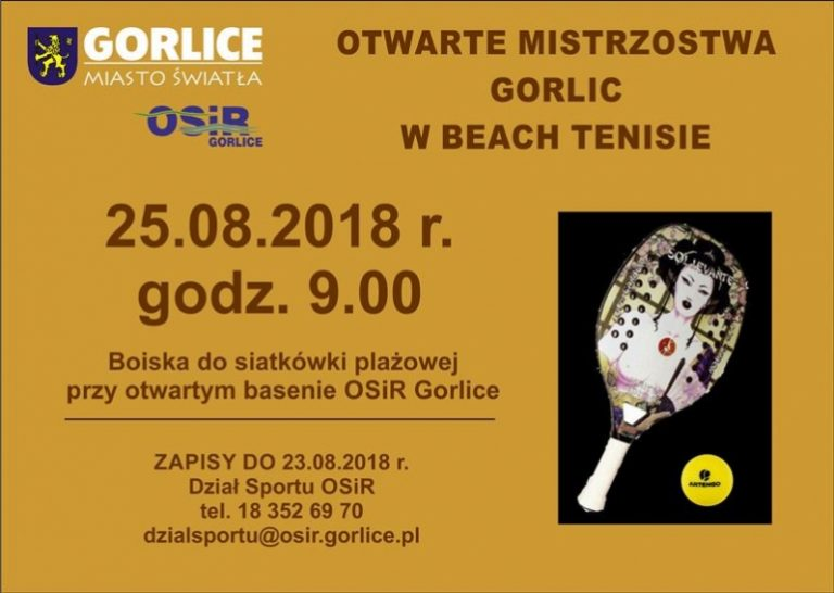 Beach tenis. Zbliżają się otwarte mistrzostwa Gorlicach