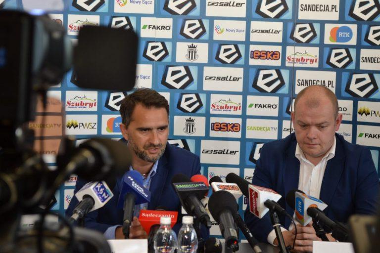 """Trener Sandecji po wygranej z GKS: """"Tempo było porywające"""""""