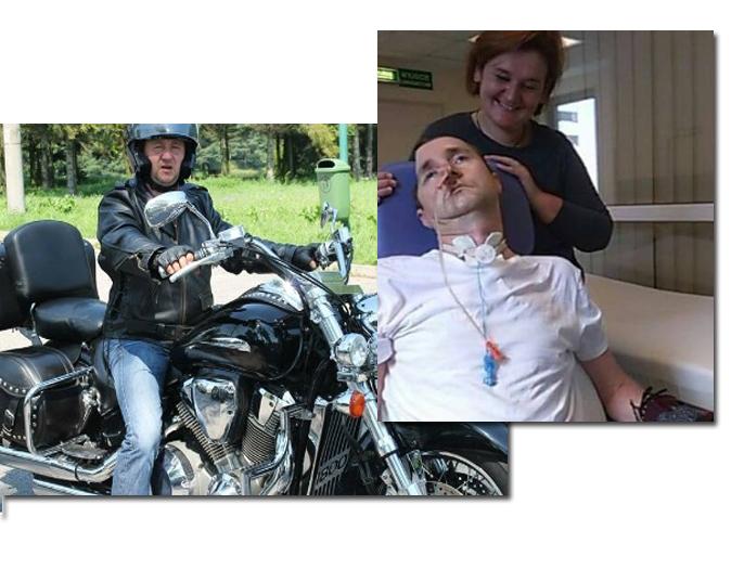 Dzieci sądeckiego motocyklisty walczą o życie swojego taty