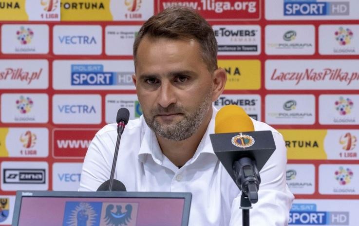 """Trener Sandecji po remisie w Głogowie: """"Z tego się cieszę"""""""