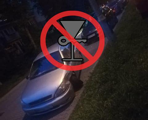 Nowy Sącz, ul. Hubala: pijana kobieta wiozła autem trójkę małych dzieci. Był wypadek…
