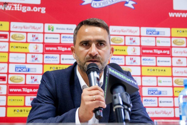 """Trener Sandecji komentuje: """"Z tego jestem zadowolony przede wszystkim"""""""