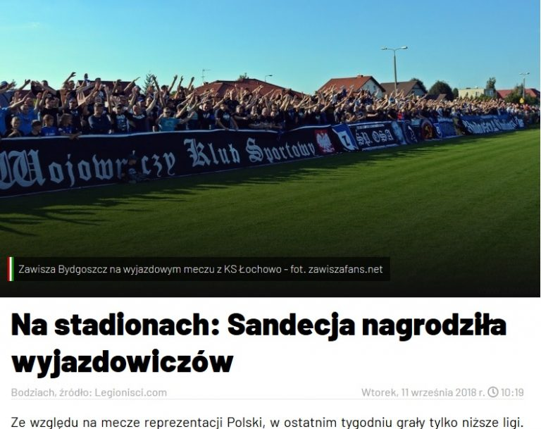 """Strona Legii Warszawa… o kibicach Sandecji. """"13 fanów dostało piłki w nagrodę za wyjazd"""""""