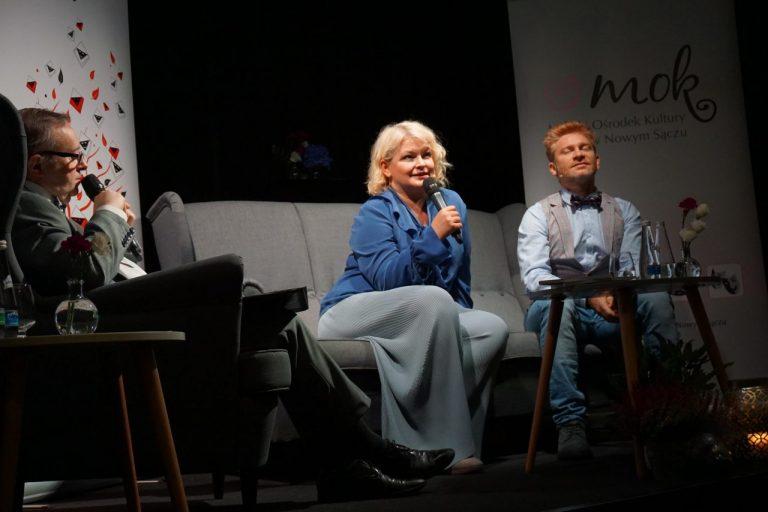 Dominika Ostałowska i Artur Pontek gośćmi rozmów kameralnych w Nowym Sączu