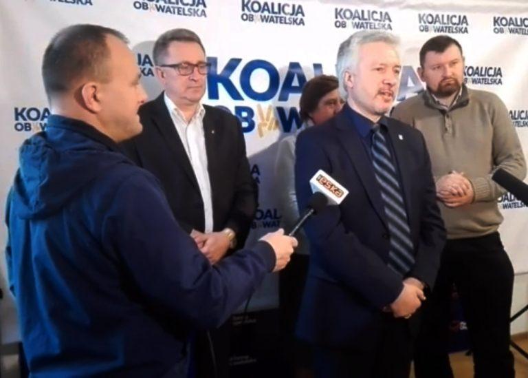 Koalicja Obywatelska prosi o głosowanie na Handzla,  Krzysztof Głuc prosi o uczestnictwo w wyborach