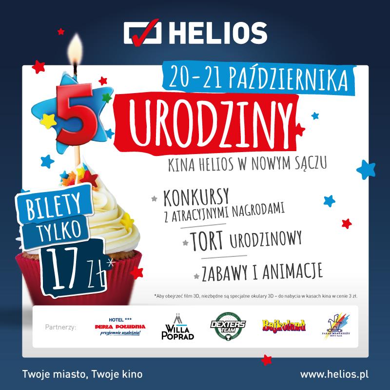 5. urodziny nowosądeckiego kina Helios!