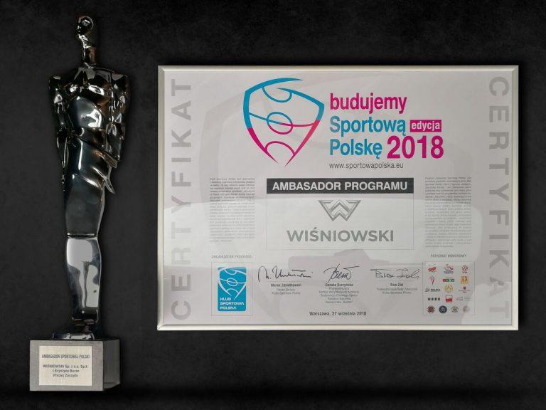 Wiśniowski z nagrodą dla budowniczych polskiego sportu!