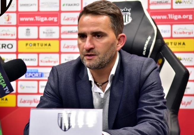 """Trener Sandecji po wyczekiwanym zwycięstwie: """"To był mecz drużyn z czołówki"""""""
