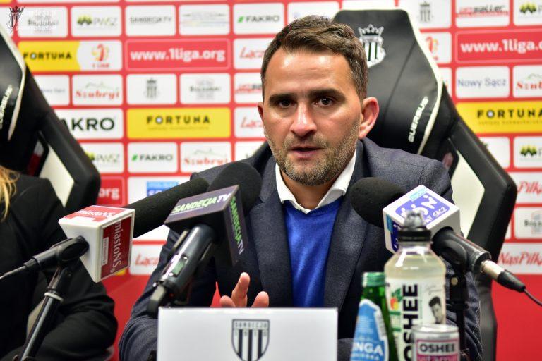 """Trener Sandecji po zwycięstwie 2:0: """"Dziękuję zwłaszcza Panu Włodkowi"""""""
