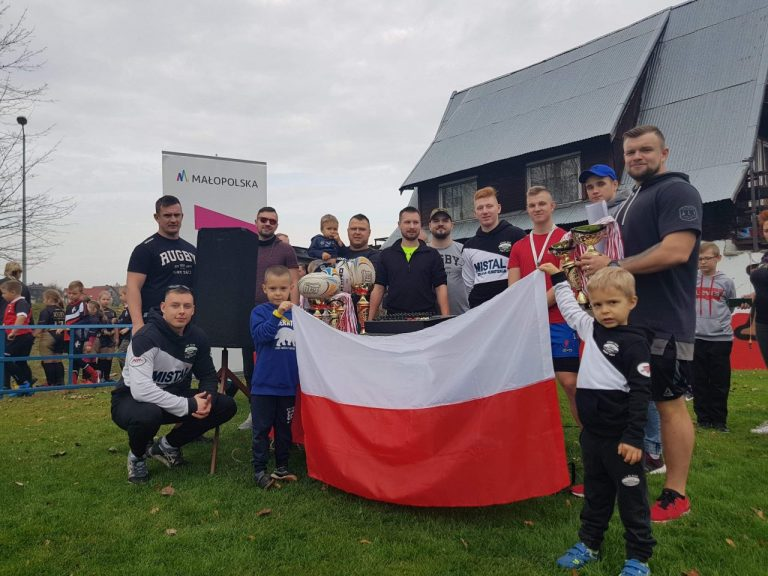 Dzieci zagrały w rugby na II Turnieju Niepodległości w Nowym Sączu