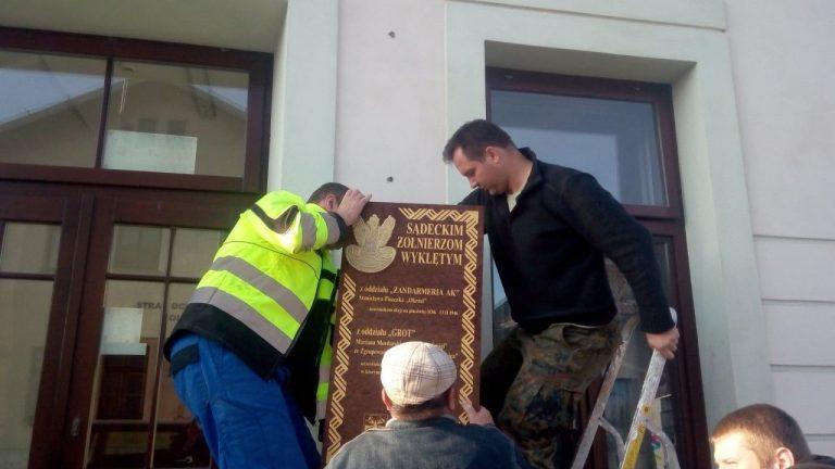 W sobotę poświęcenie tablicy upamiętniającej sądeckich Żołnierzy Wyklętych