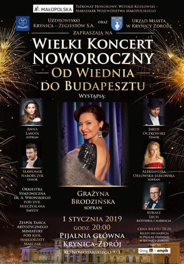 Krynica – Zdrój, 1 stycznia: Od Wiednia do Budapesztu, koncert noworoczny