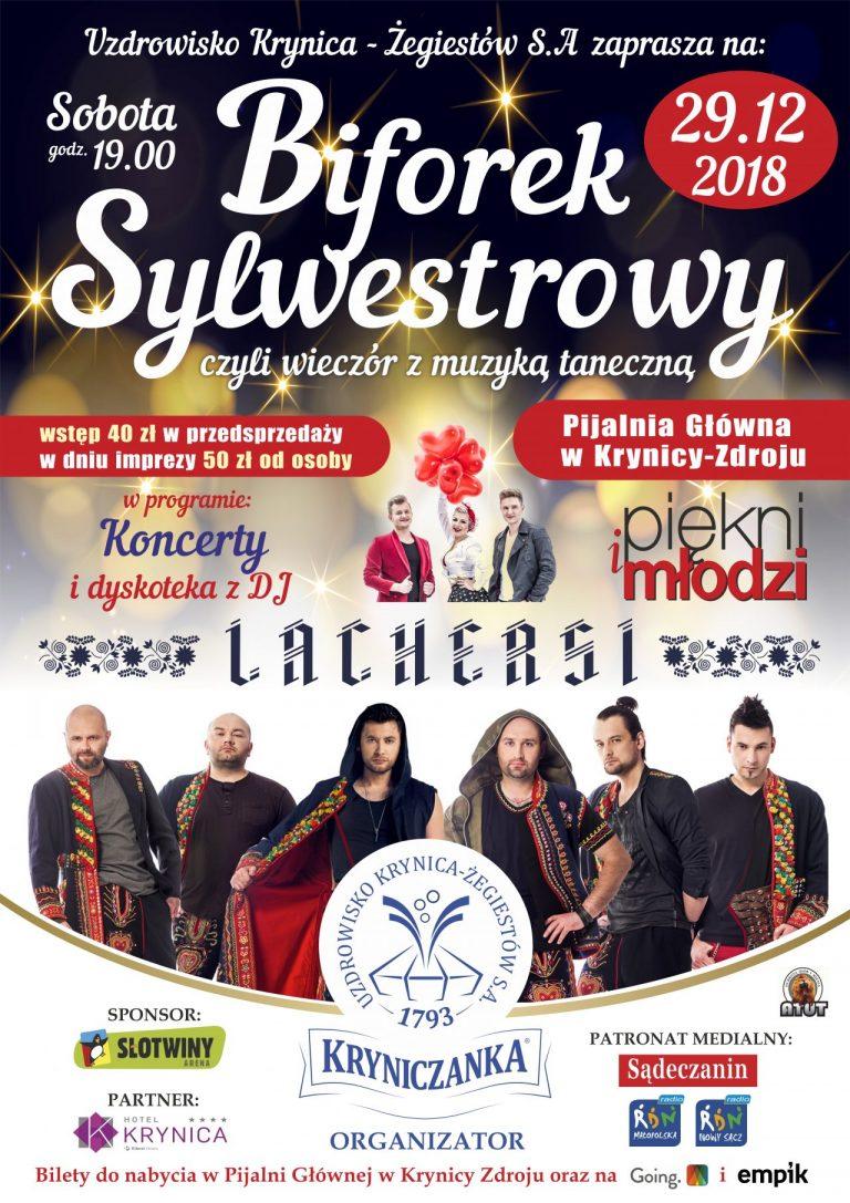 Krynica- Zdrój, 29 grudnia:  Biforek Sylwestrowy z Lachersami
