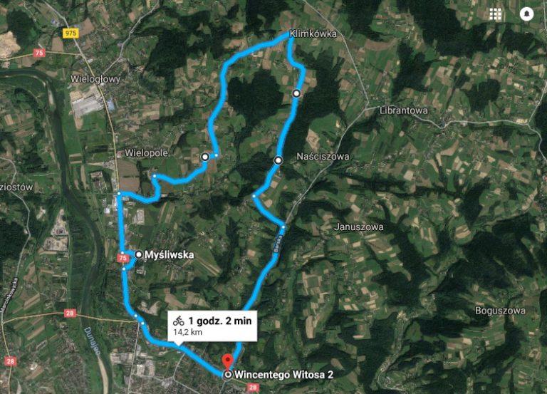 Przez Myśliwską na widokową górę (Sądecka Mapa Rowerowa II/ XVIII)