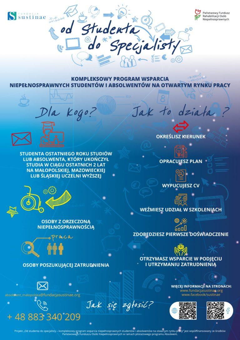 Od studenta do specjalisty – program dla niepełnosprawnych studentów i absolwentów
