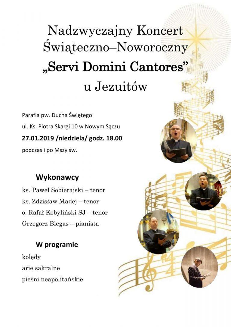 """Nowy Sącz, 27 stycznia: """"Servi Domini Cantores"""" – koncert u Jezuitów"""